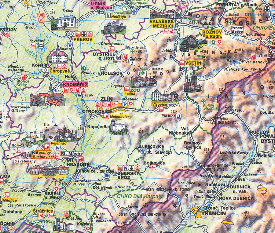 Mapa Zlinskeho Kraje Regiony Ceske Republiky